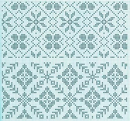 Красивые узоры спицами в технике Жаккард: схемы вязания vyazanie zhakkardovyh uzorov spicami 115 1