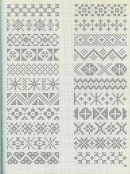 Красивые узоры спицами в технике Жаккард: схемы вязания vyazanie zhakkardovyh uzorov spicami 116 1