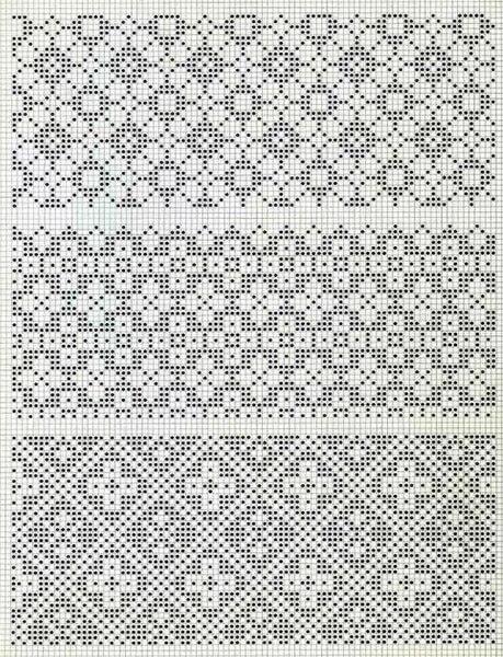 Красивые узоры спицами в технике Жаккард: схемы вязания vyazanie zhakkardovyh uzorov spicami 117 1
