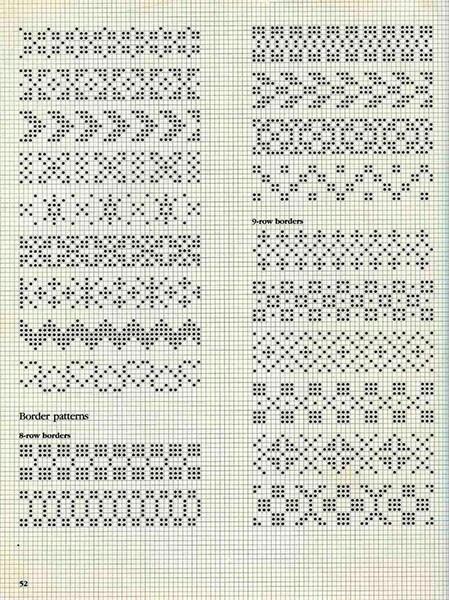 Красивые узоры спицами в технике Жаккард: схемы вязания vyazanie zhakkardovyh uzorov spicami 118 1