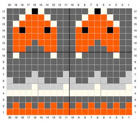 Красивые узоры спицами в технике Жаккард: схемы вязания vyazanie zhakkardovyh uzorov spicami 121 1