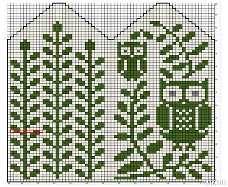 Красивые узоры спицами в технике Жаккард: схемы вязания vyazanie zhakkardovyh uzorov spicami 123