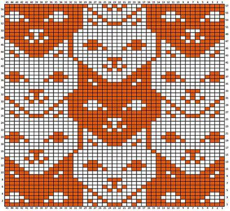 Красивые узоры спицами в технике Жаккард: схемы вязания vyazanie zhakkardovyh uzorov spicami 129