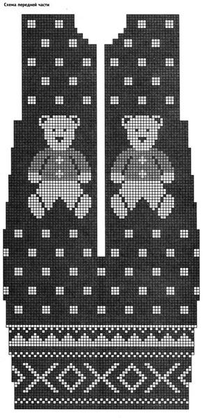 Красивые узоры спицами в технике Жаккард: схемы вязания vyazanie zhakkardovyh uzorov spicami 146
