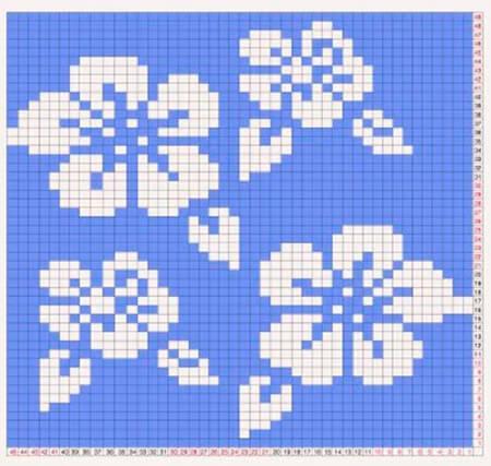 Красивые узоры спицами в технике Жаккард: схемы вязания vyazanie zhakkardovyh uzorov spicami 15 1