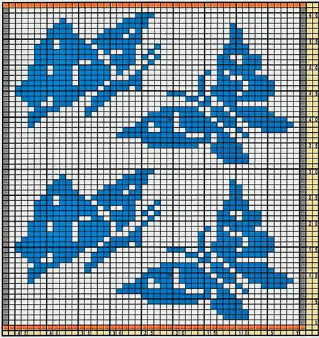 Красивые узоры спицами в технике Жаккард: схемы вязания vyazanie zhakkardovyh uzorov spicami 153