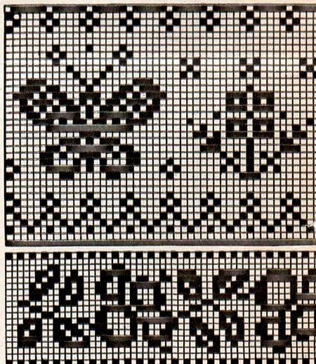 Красивые узоры спицами в технике Жаккард: схемы вязания vyazanie zhakkardovyh uzorov spicami 155
