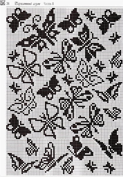 Красивые узоры спицами в технике Жаккард: схемы вязания vyazanie zhakkardovyh uzorov spicami 156