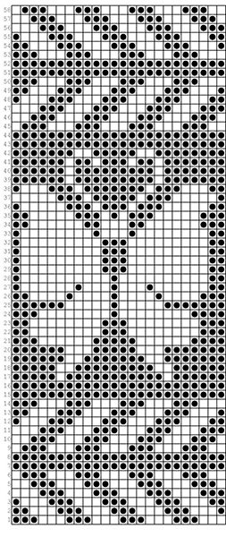Красивые узоры спицами в технике Жаккард: схемы вязания vyazanie zhakkardovyh uzorov spicami 160