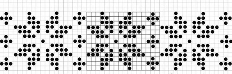 Красивые узоры спицами в технике Жаккард: схемы вязания vyazanie zhakkardovyh uzorov spicami 27 1