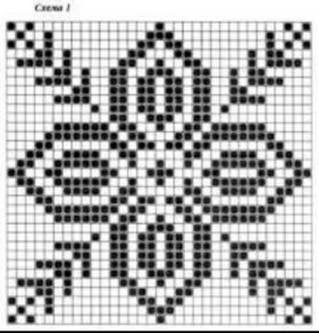 Красивые узоры спицами в технике Жаккард: схемы вязания vyazanie zhakkardovyh uzorov spicami 50 1