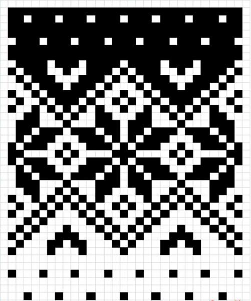 Красивые узоры спицами в технике Жаккард: схемы вязания vyazanie zhakkardovyh uzorov spicami 52 1