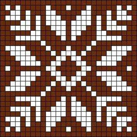 Красивые узоры спицами в технике Жаккард: схемы вязания vyazanie zhakkardovyh uzorov spicami 56 1