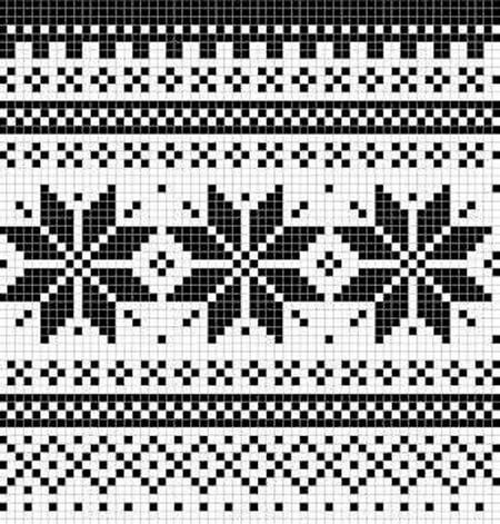 Красивые узоры спицами в технике Жаккард: схемы вязания vyazanie zhakkardovyh uzorov spicami 57 1