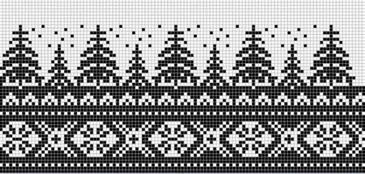 Красивые узоры спицами в технике Жаккард: схемы вязания vyazanie zhakkardovyh uzorov spicami 59 1