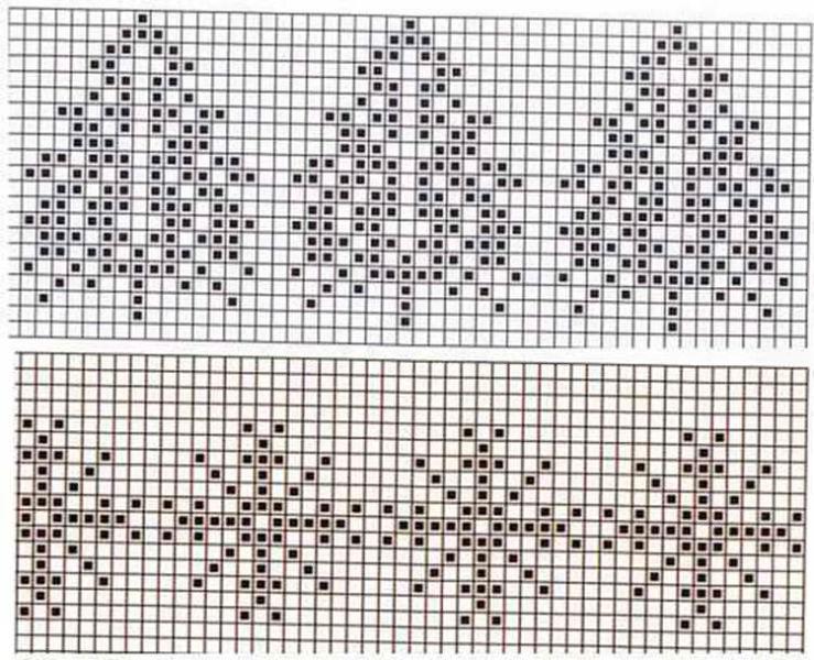 Красивые узоры спицами в технике Жаккард: схемы вязания vyazanie zhakkardovyh uzorov spicami 61 1