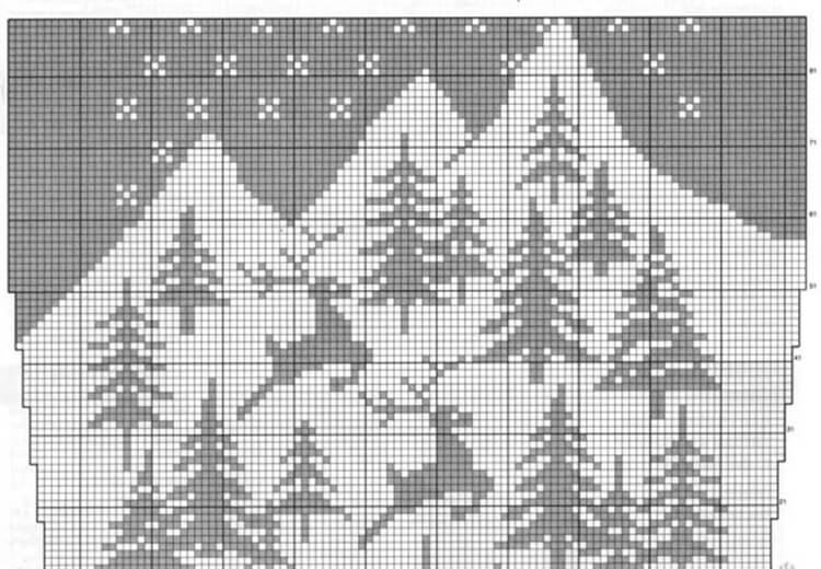 Красивые узоры спицами в технике Жаккард: схемы вязания vyazanie zhakkardovyh uzorov spicami 63 1