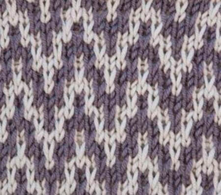 Красивые узоры спицами в технике Жаккард: схемы вязания vyazanie zhakkardovyh uzorov spicami 9 1
