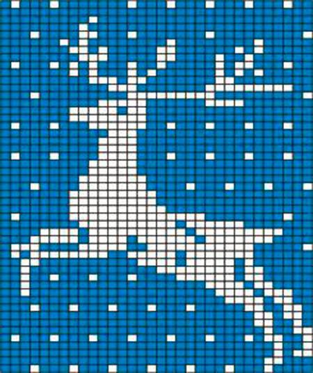 Красивые узоры спицами в технике Жаккард: схемы вязания vyazanie zhakkardovyh uzorov spicami 93 1