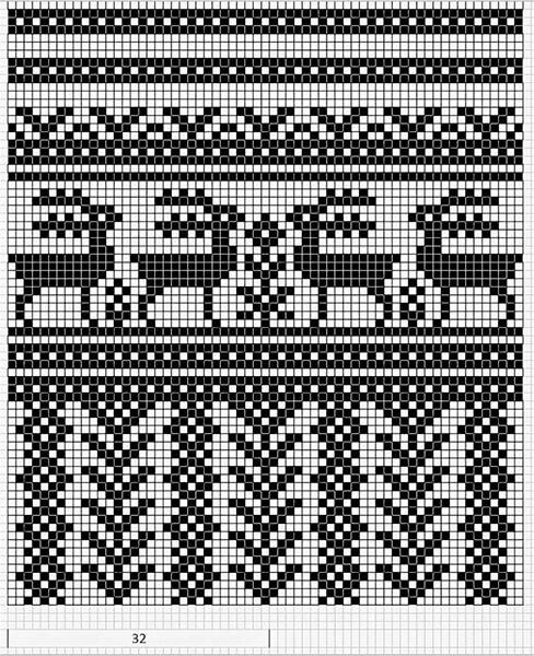 Красивые узоры спицами в технике Жаккард: схемы вязания vyazanie zhakkardovyh uzorov spicami 98 1